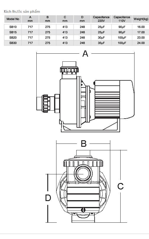 Máy bơm EMAUX dòng SB