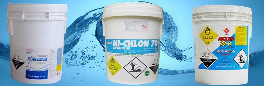 Chlorine xử lý nước hồ bơi
