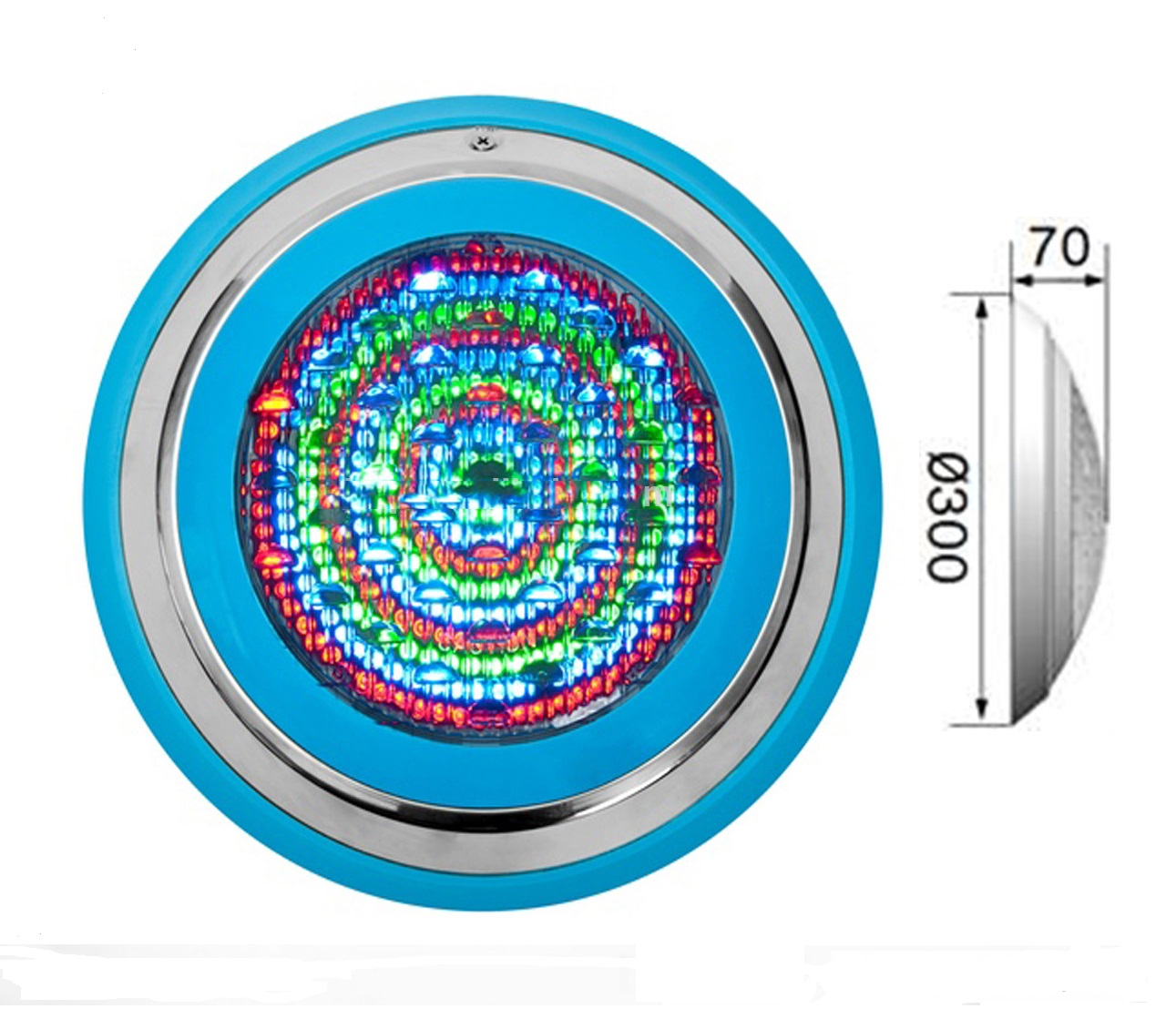 Đèn Led đổi màu PK6002: 12V-18W -  (30cm)